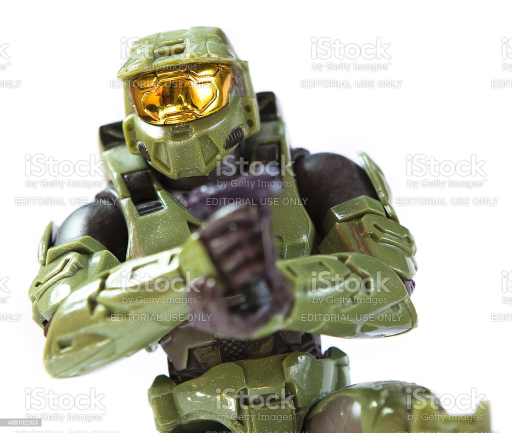 Halo - Posing Master Chief Toy stock photo