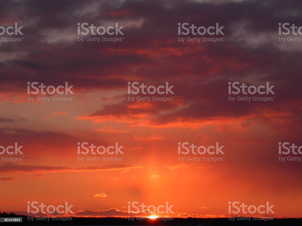 Halo Sunset royalty-free stock photo