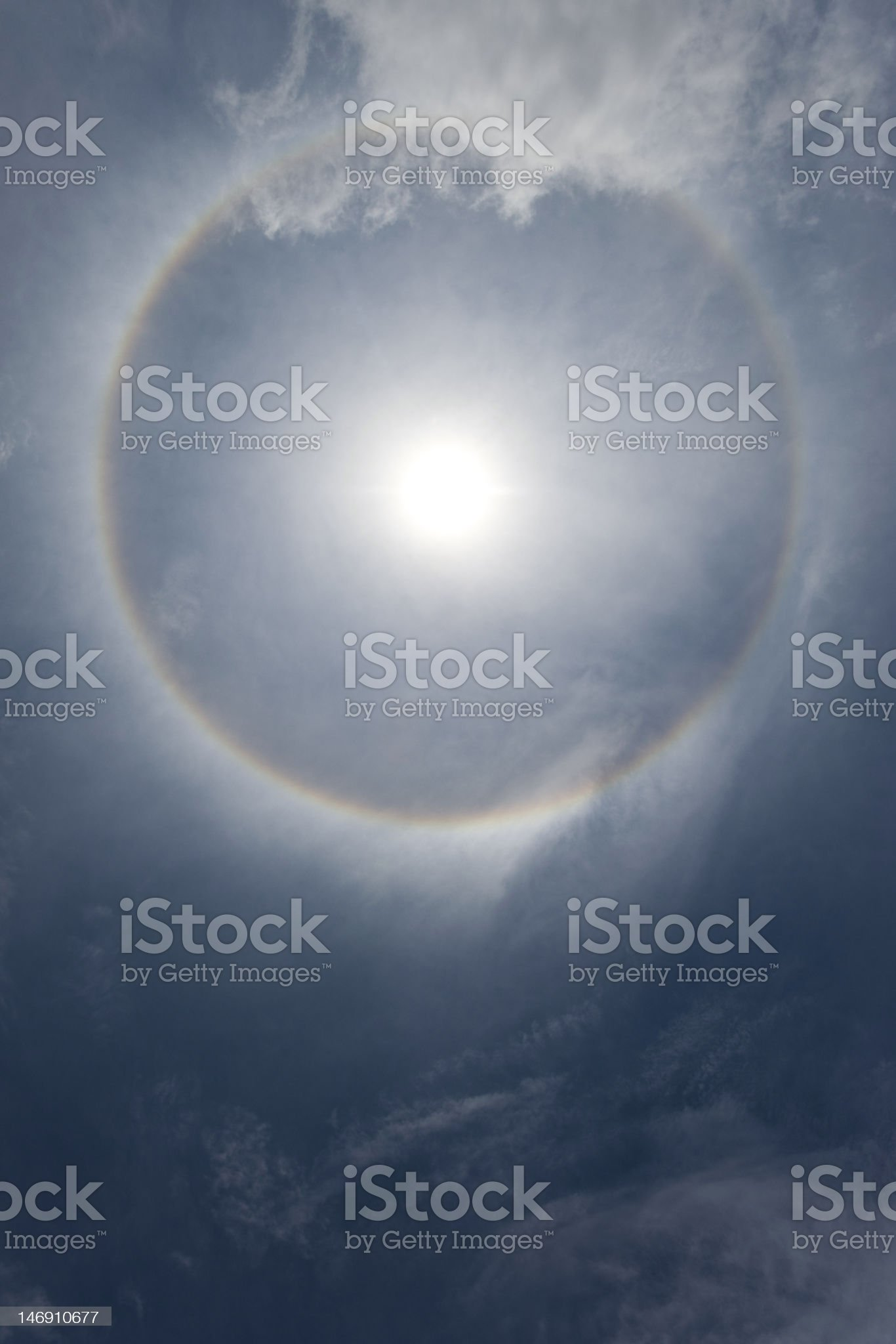 Halo with some extra space on the bottom royalty-free stock photo