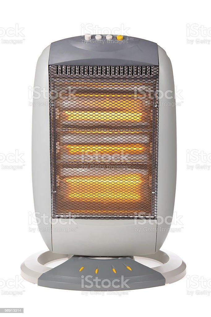 Halogen heater isolated on white stock photo