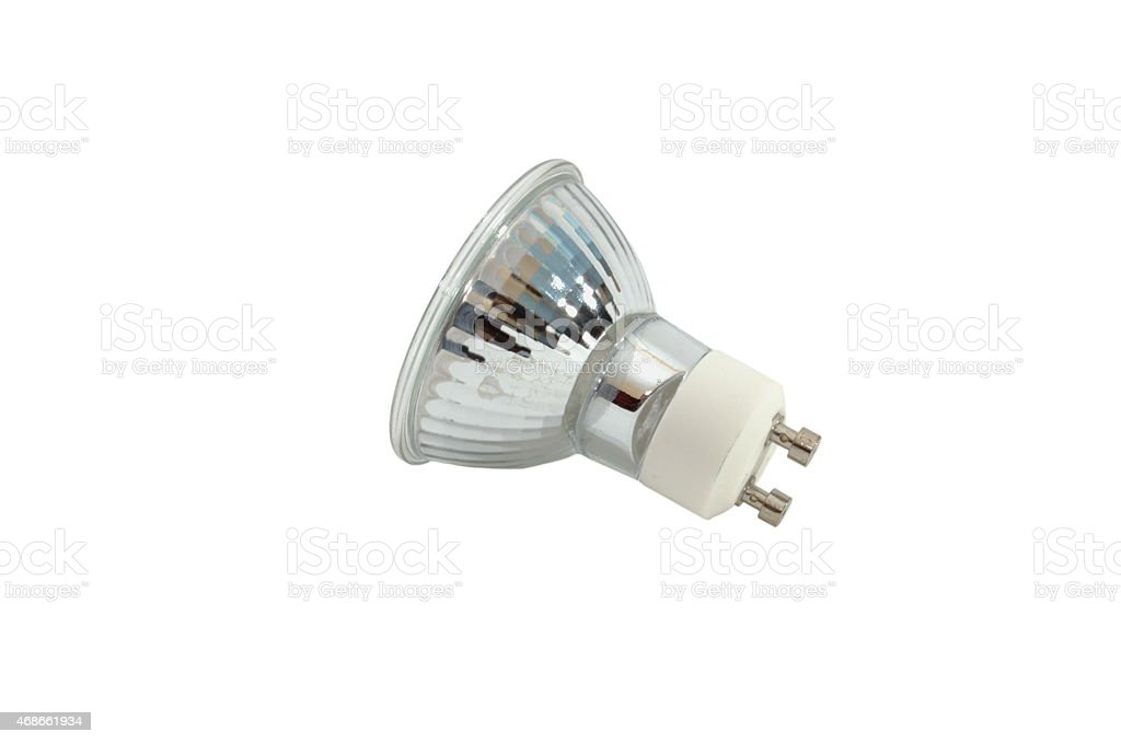 halogen light GU10 bulb stock photo