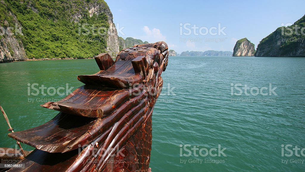 Halong Bay boat stock photo