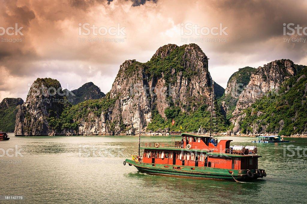 Halong Bay Cruise royalty-free stock photo