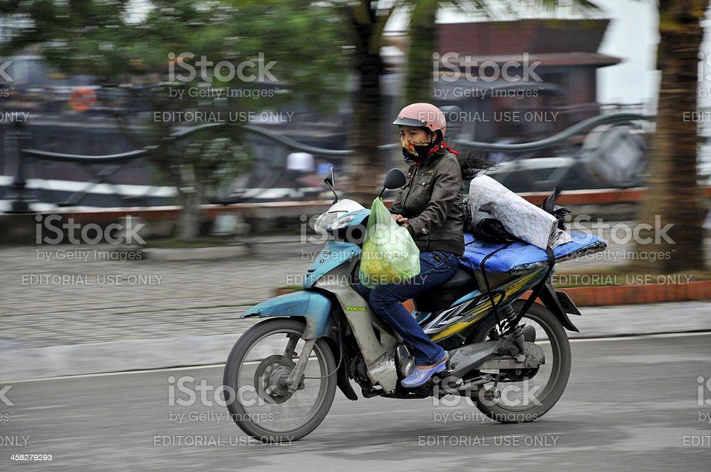 Halong Bay Motor Cycle Pan royalty-free stock photo
