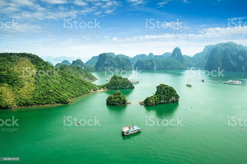 Halong Bay, Vietnam. stock photo