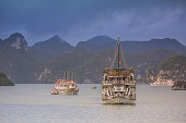 Halong bay Vietnam tourists ships