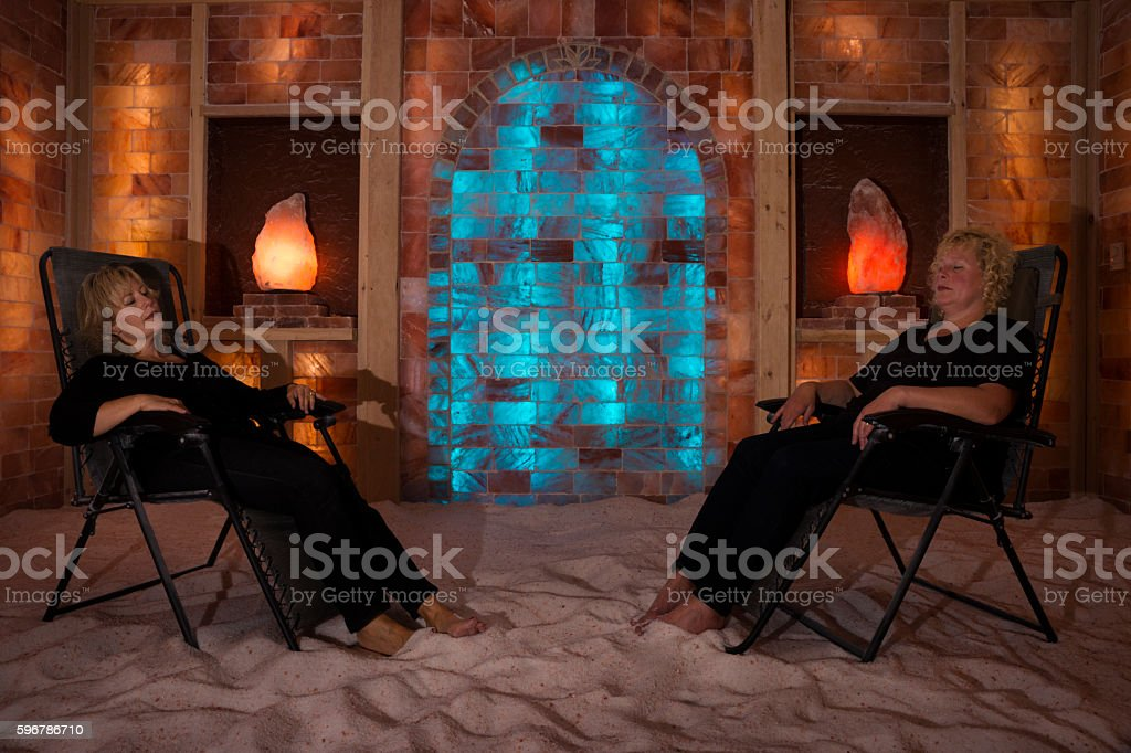 Halotherapy session for allergies stock photo