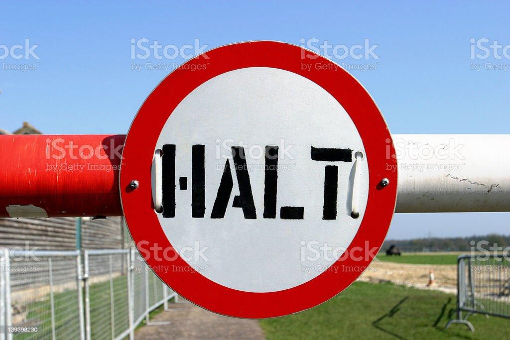 Halt! royalty-free stock photo