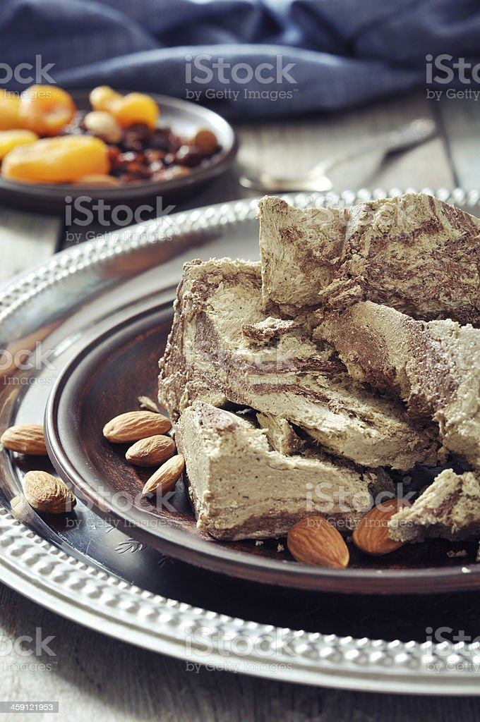 Halva with almonds royalty-free stock photo