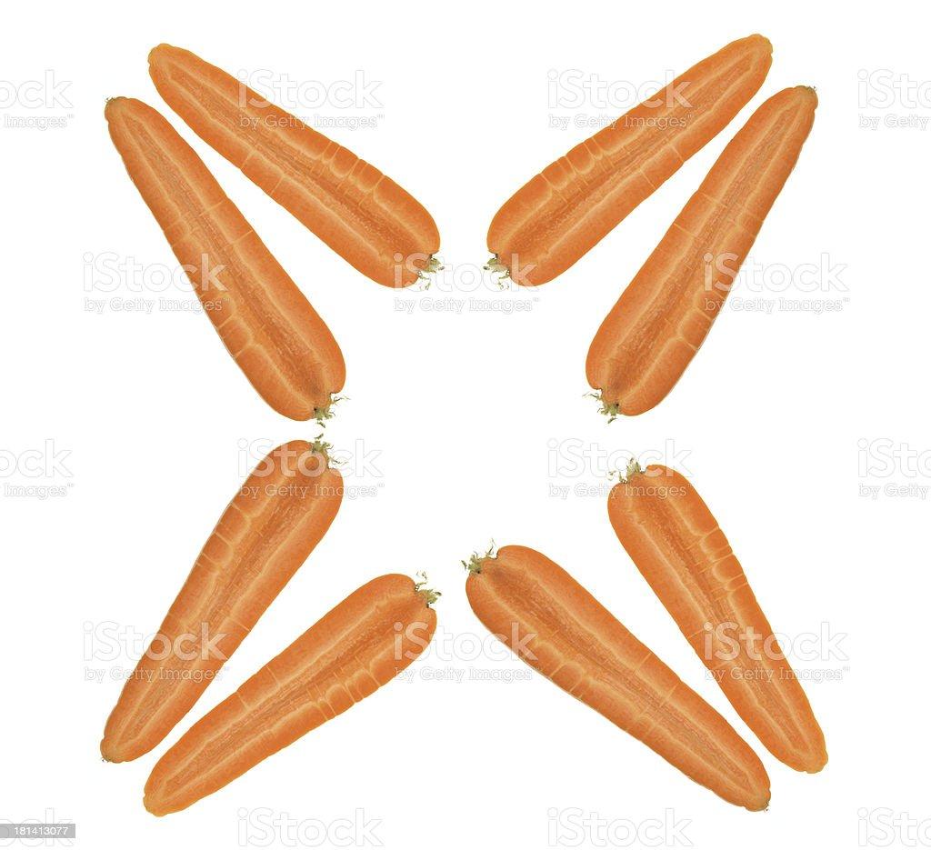 Halves of Carrots royalty-free stock photo