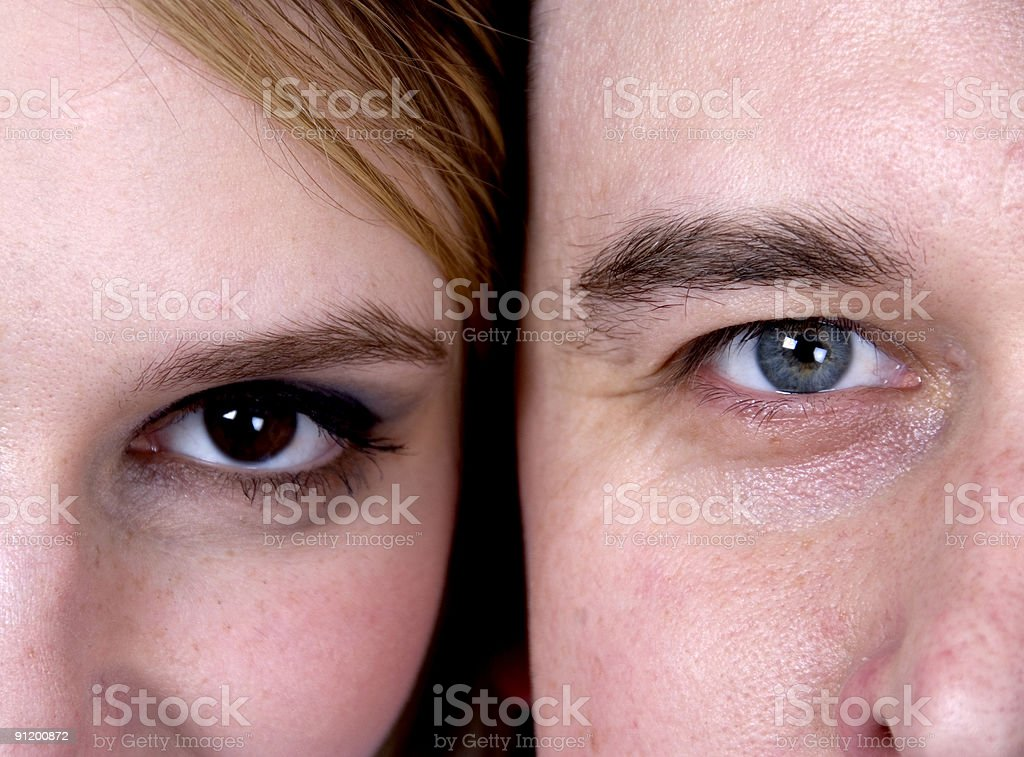 Halves of the face royalty-free stock photo