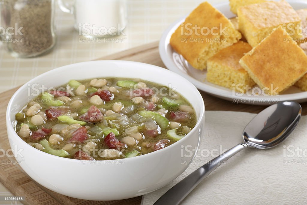Ham and Bean Soup stock photo