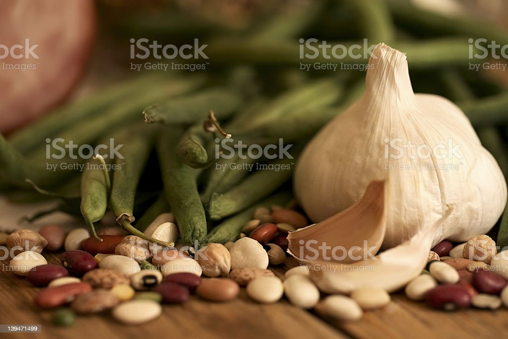 Ham and bean vegetables royalty-free stock photo