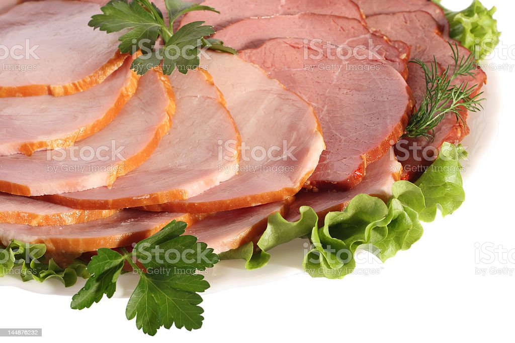 Ham and beef slices royalty-free stock photo