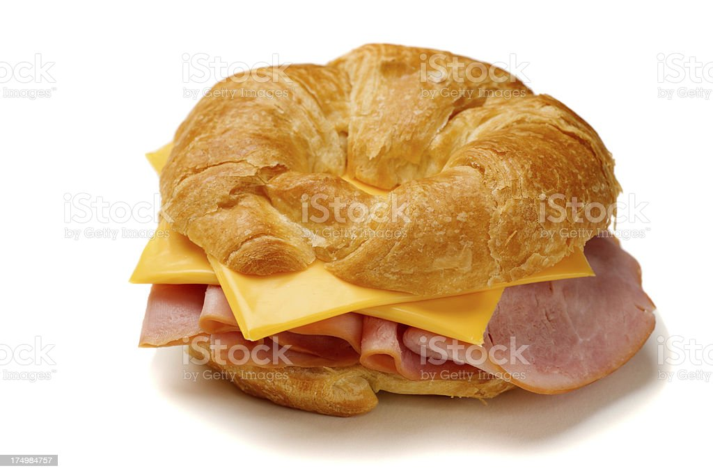 Ham and Cheese Croissant stock photo