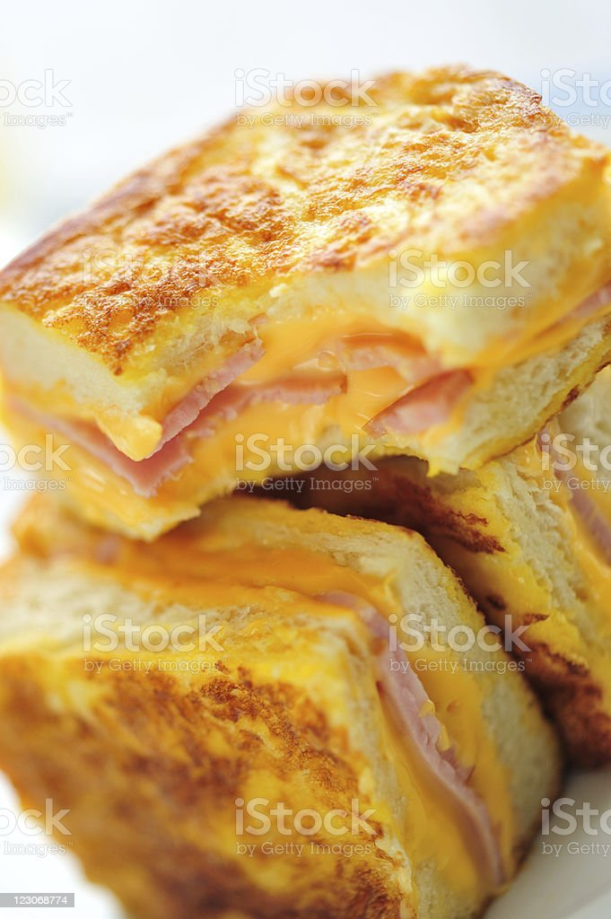 Ham and Cheese French Toasts Close-up royalty-free stock photo