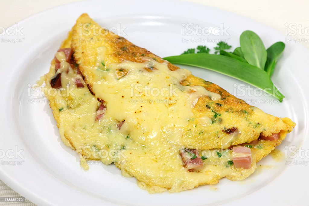 Ham And Cheese Omelet royalty-free stock photo