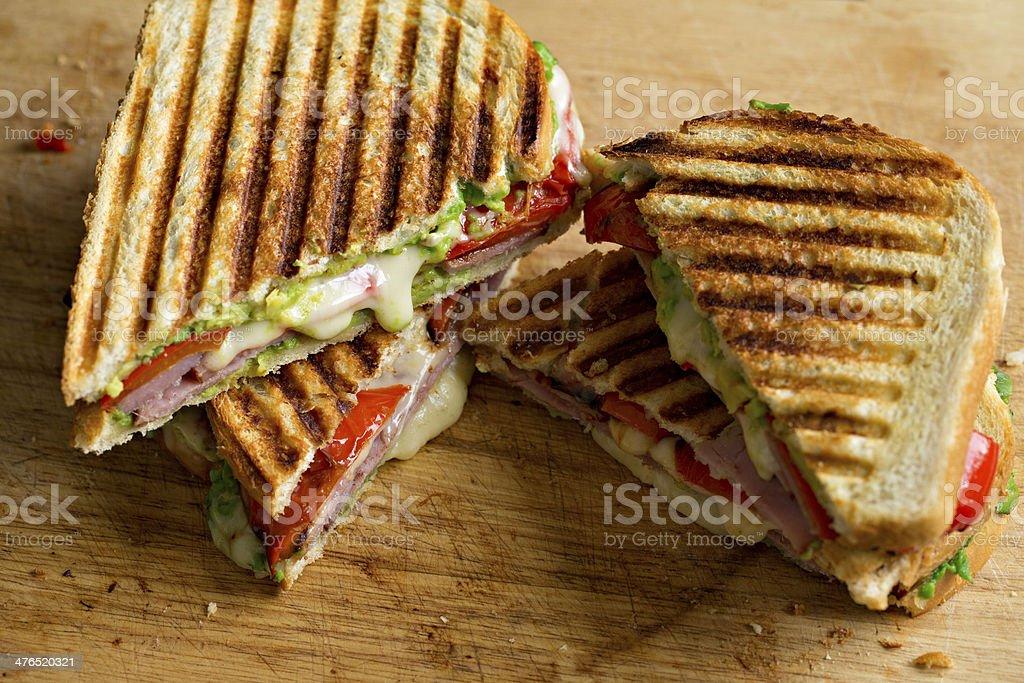 Ham And Cheese Panini stock photo