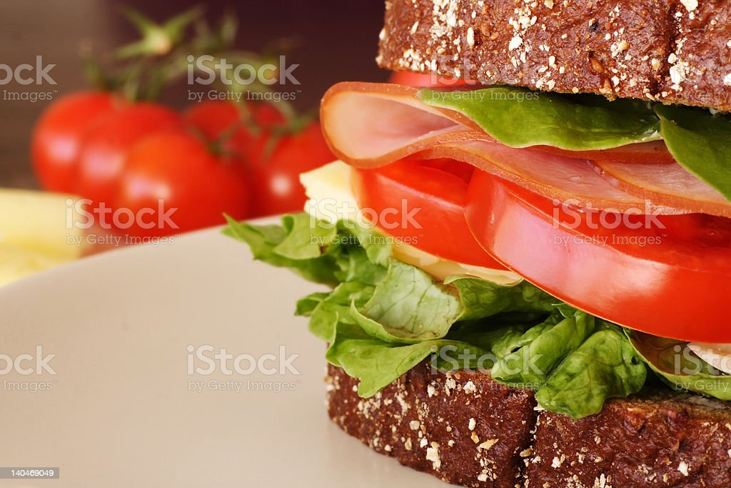 Ham and cheese royalty-free stock photo