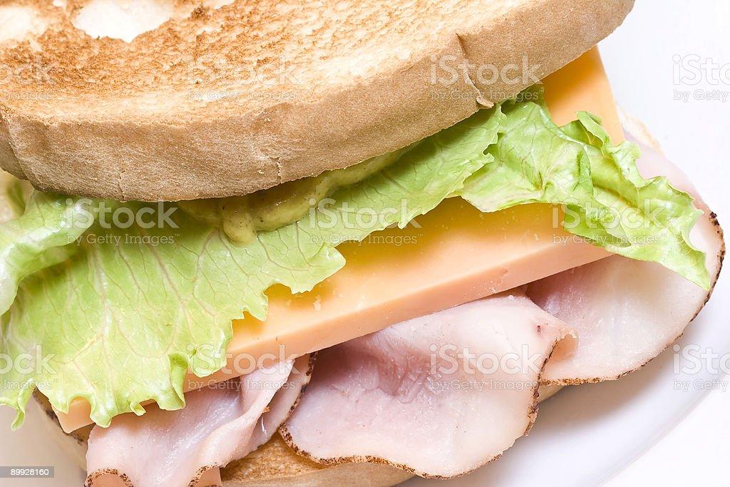 ham and cheese stock photo