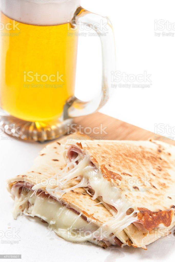 Ham and Cheese Quesadilla royalty-free stock photo