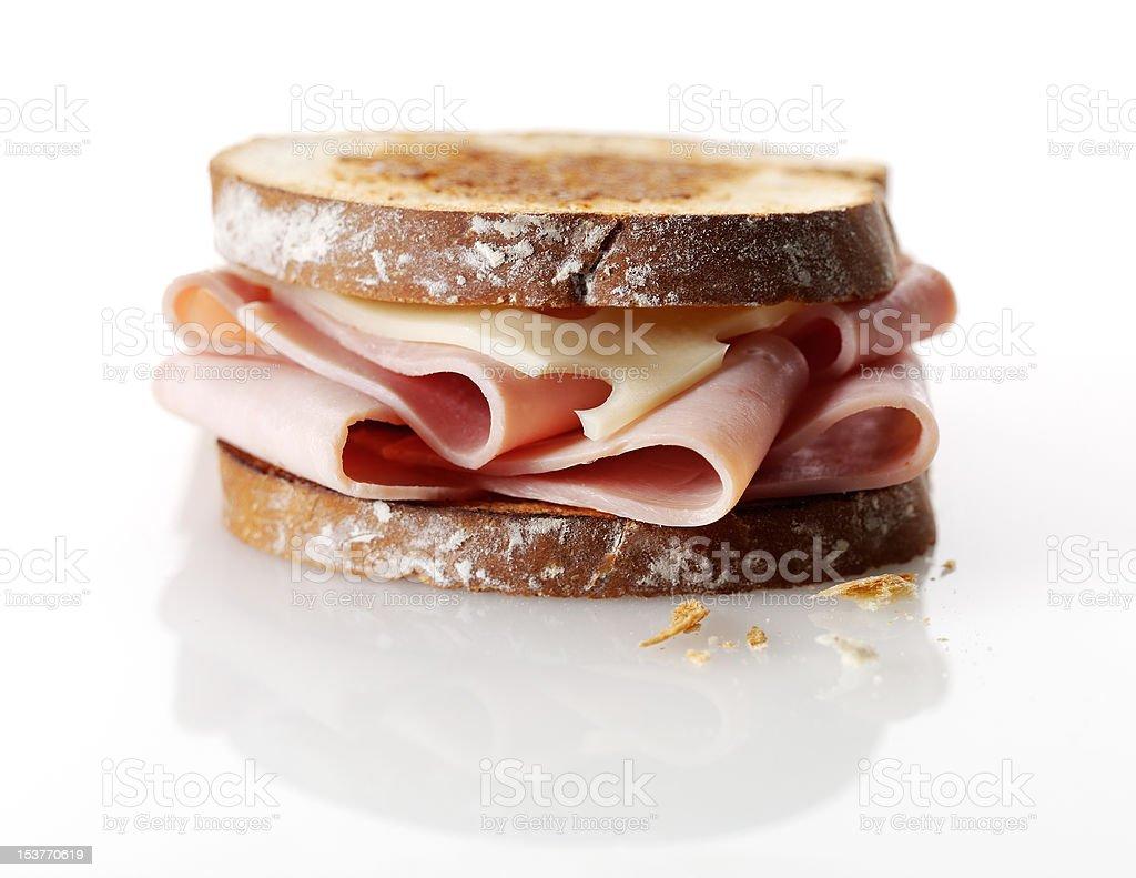 Sanduíche de presunto e queijo foto royalty-free