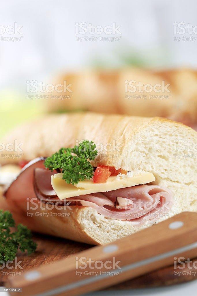 Сэндвич с сыром и ветчиной Стоковые фото Стоковая фотография