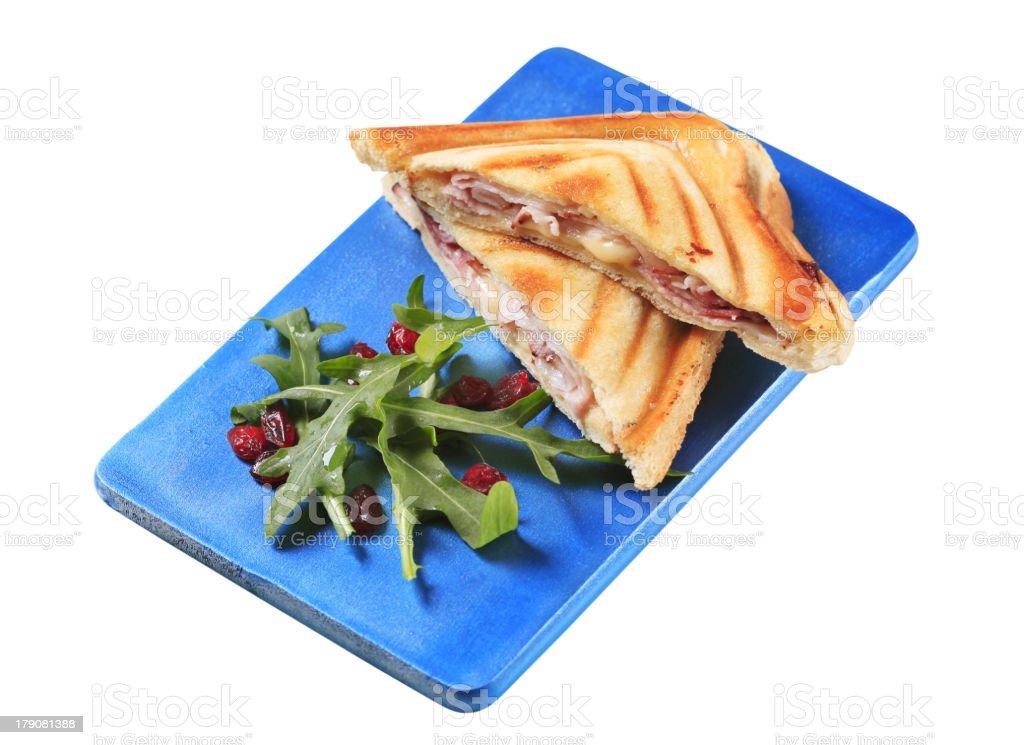 Ham and cheese toasties royalty-free stock photo