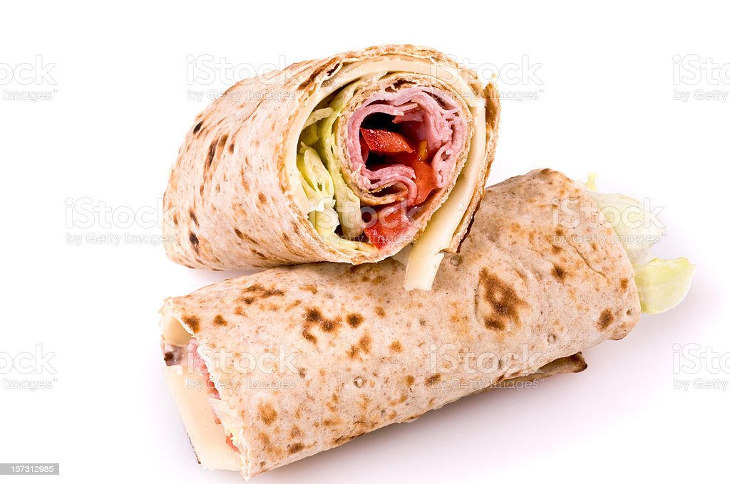 Ham and Cheese wrap royalty-free stock photo