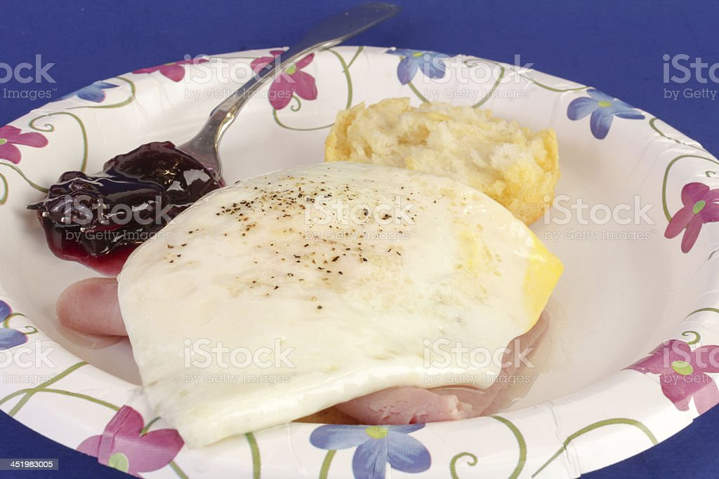 Ham and Egg Biscuit stock photo