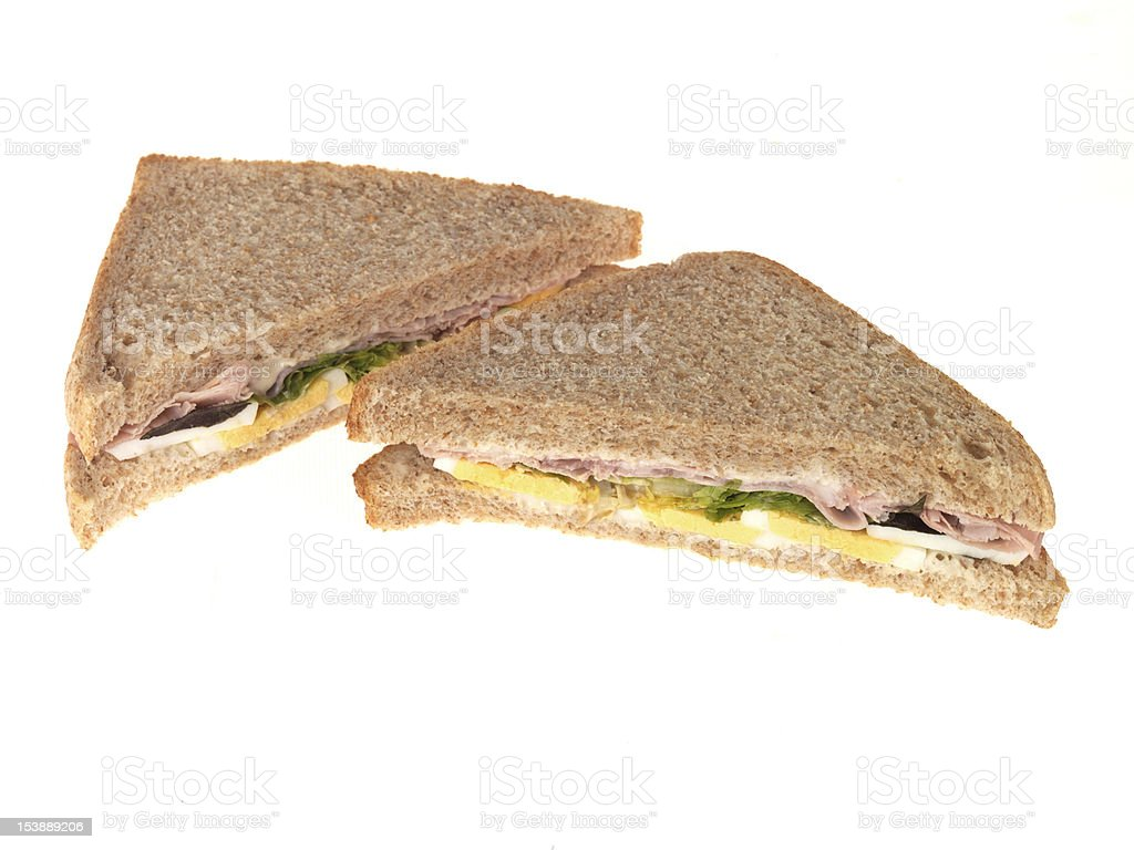 Ham and Egg Sandwich royalty-free stock photo