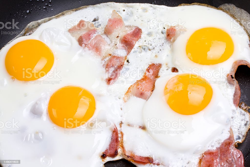 ham and eggs royalty-free stock photo