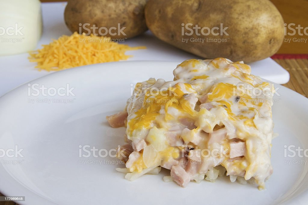 Ham and Hash Brown Casserole stock photo
