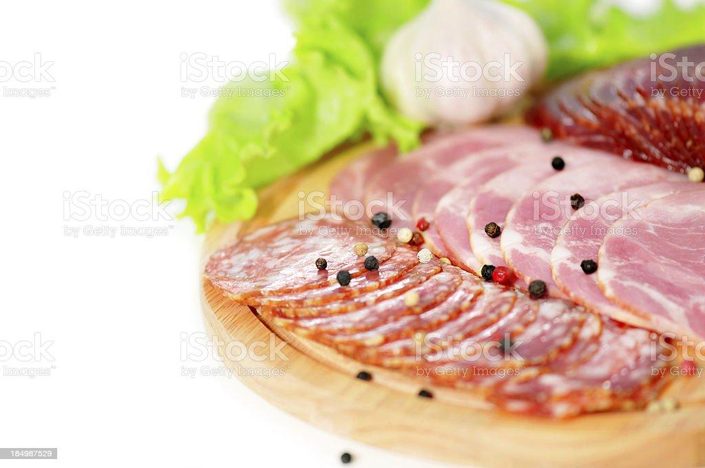 ham and sausage royalty-free stock photo