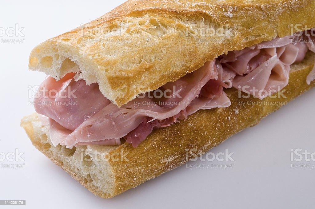 Ham baguette royalty-free stock photo