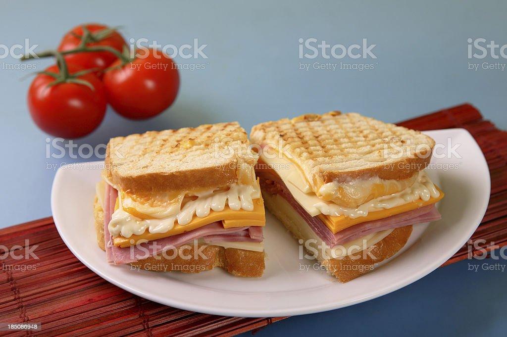 Ham & Cheese Sandwich royalty-free stock photo