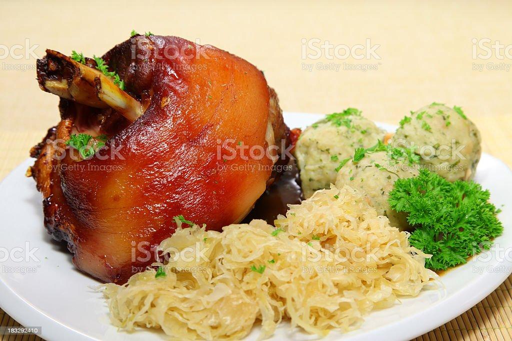 Ham hock or Haxe stock photo