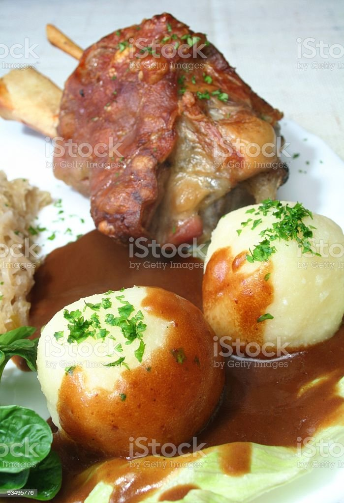 Ham hock stock photo