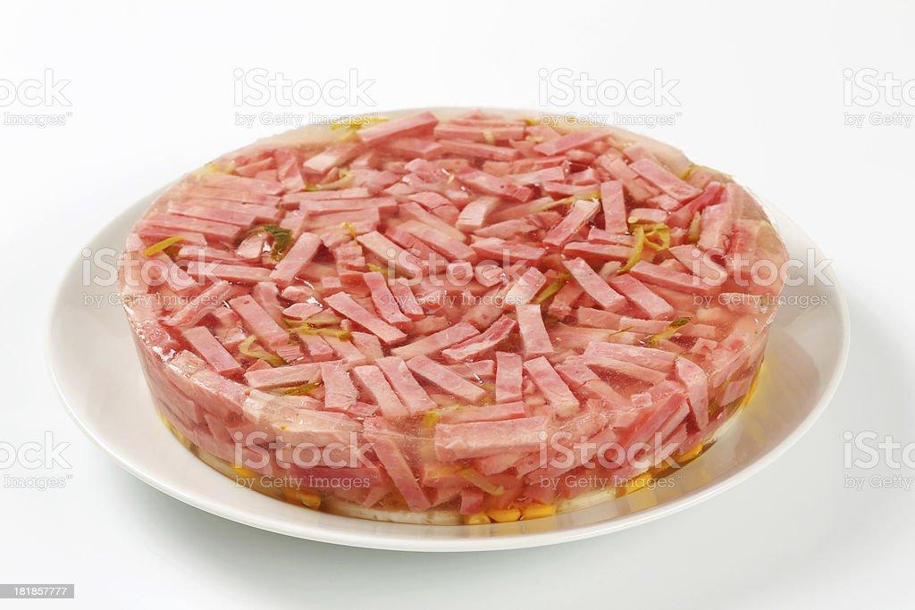 Ham meat aspic royalty-free stock photo