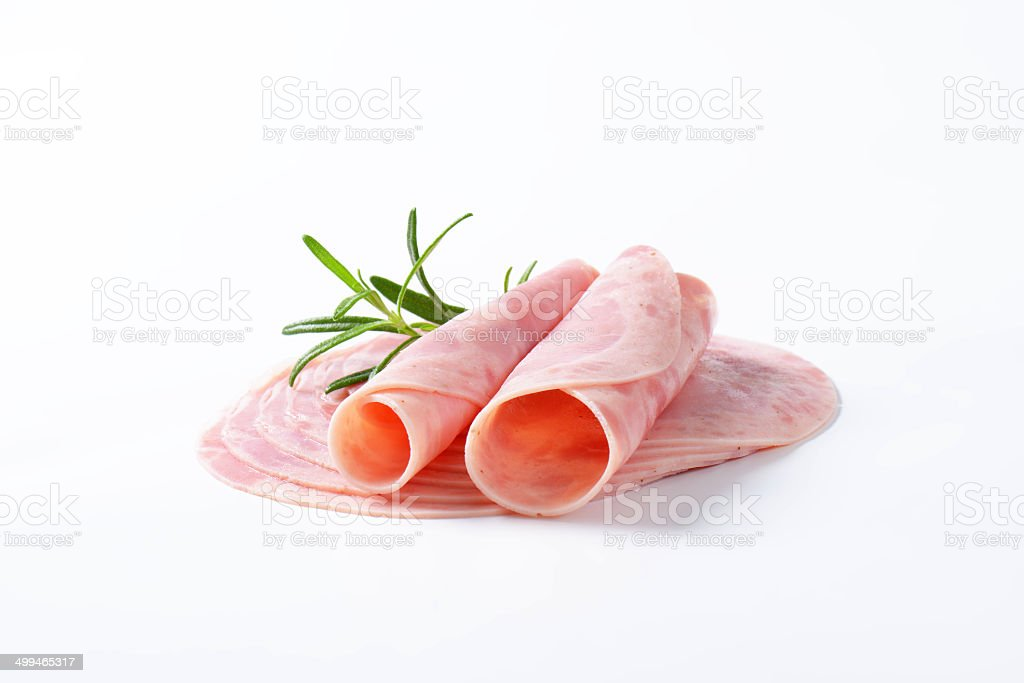 ham rolls stock photo