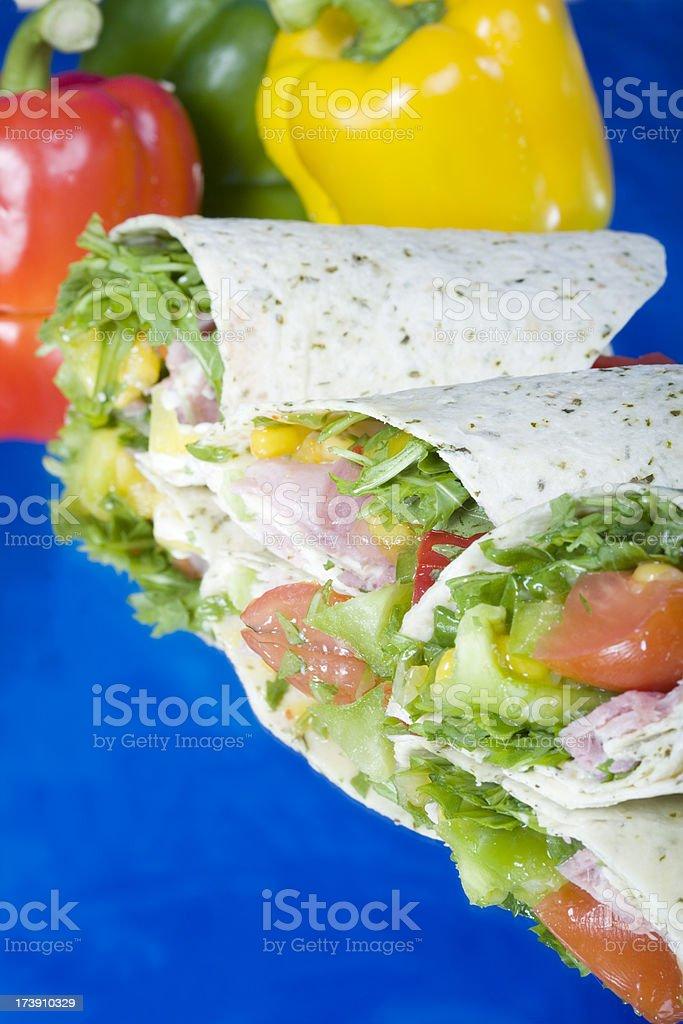 ham salad wrap stock photo