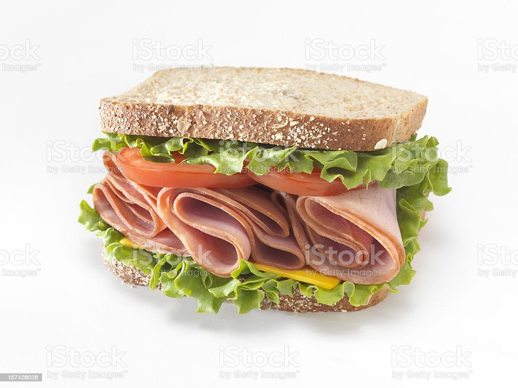 Ham Sandwich stock photo