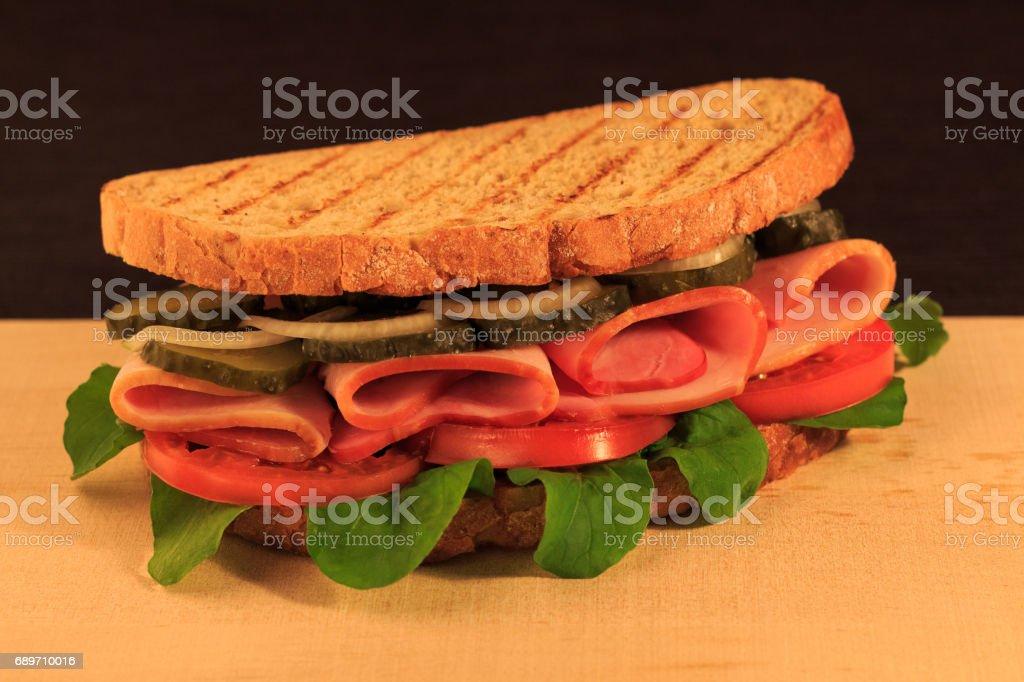 Ham sandwich stock photo