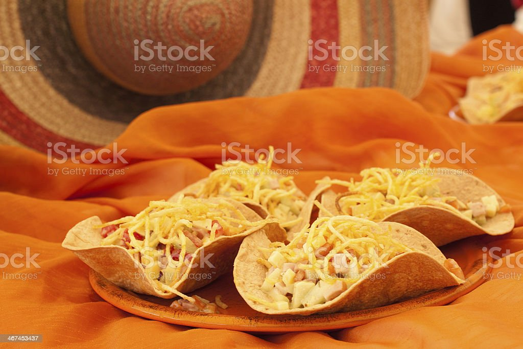 ham tacos stock photo