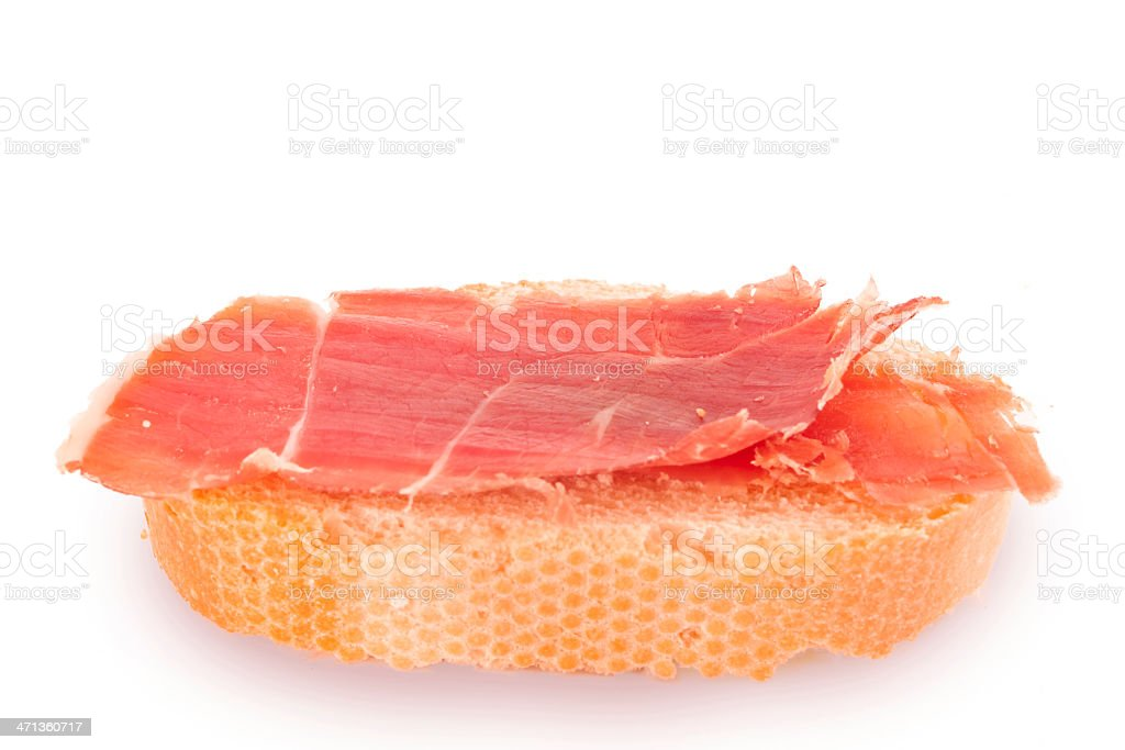 Ham 'tapa' stock photo