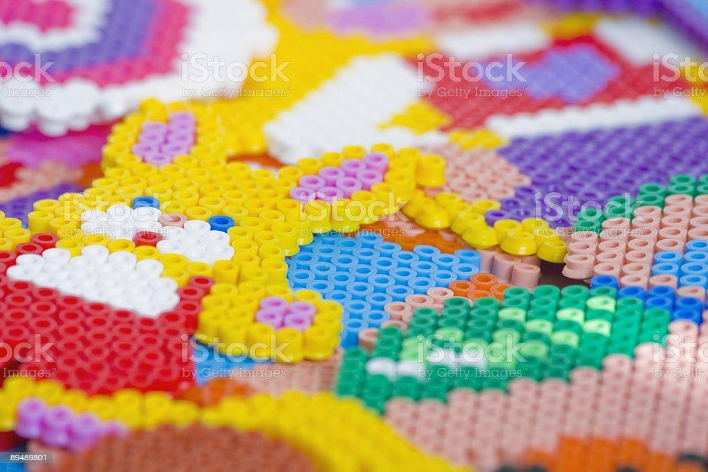 Hama beads stock photo
