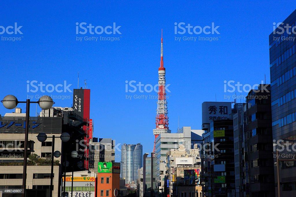 Hamamatsucho, Tokyo Tower, and Roppongi stock photo