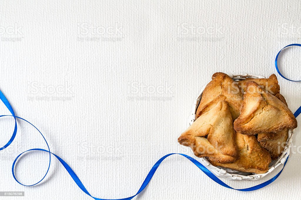 Hamantaschen, Jewish holiday of Purim. stock photo