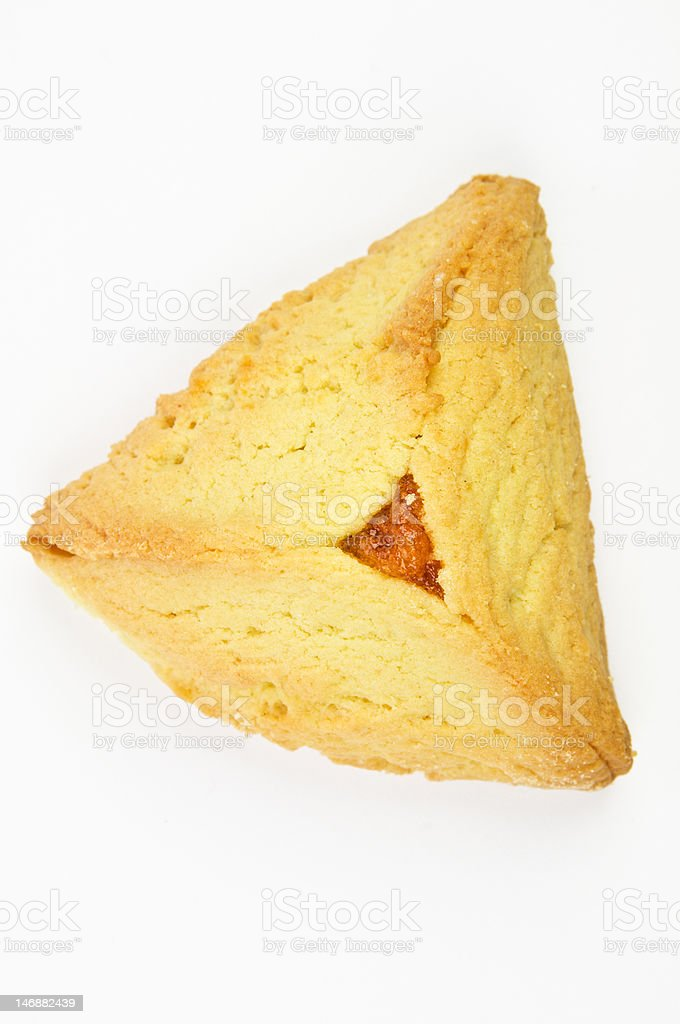 Hamantashen pastry with apricot royalty-free stock photo
