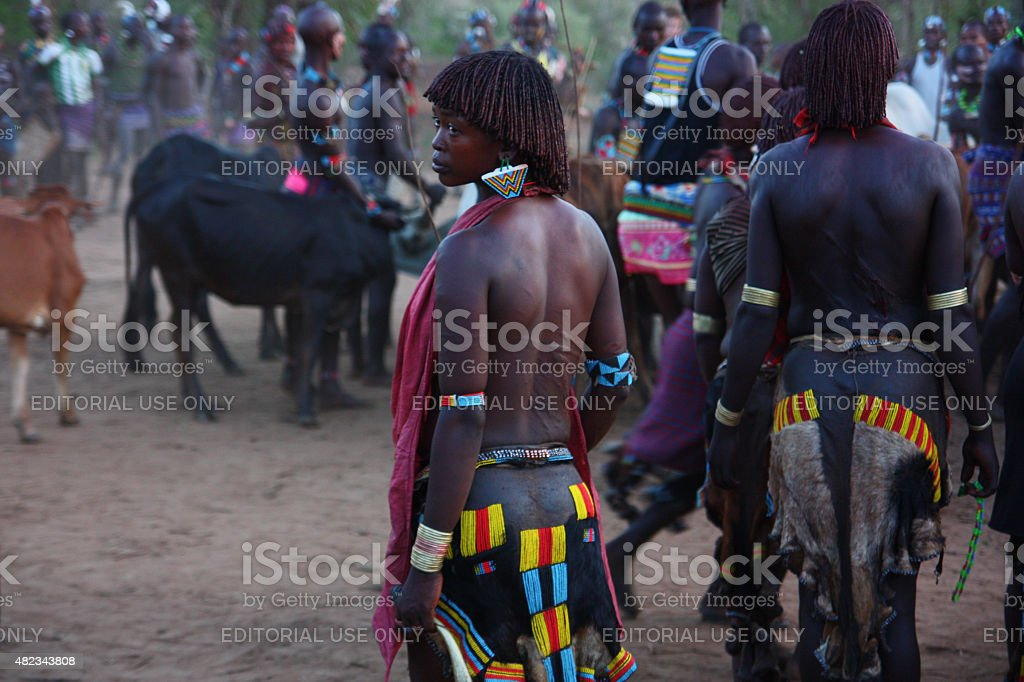 Hamar woman stock photo
